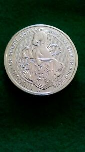 2018 Queen's Beast - 2 oz .9999 Silver Unicorn of Scotland