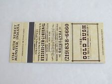Ac343 Vintage Matchbook Cover In Indiana The Gold Rush Emporium