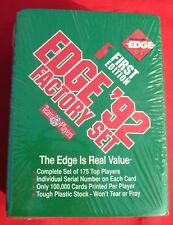 1992 COLLECTORS EDGE FACTOR SET FIRST EDITION NFL UNOPENED