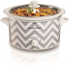 Slow Cooker Hamilton Beach 3 Quart/Chevron Kitchen Appliance Home Essentials