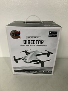 Protocol 6182-7RCHA WAL Director Foldable Drone with Live Streaming HD Camera