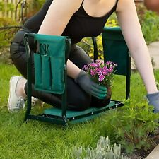 More details for 9pc portable folding garden kneeler with 2 tool bags and 6 tools included