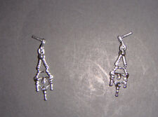 Barbie Doll Sized Jewelry Silvery Earrings For Barbie Dolls jr00