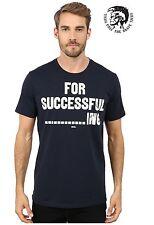 New Men's Diesel T-Shirt Diesel T-NAPOL 81E Navy Cotton T-Shirt All Sizes RRP£65