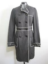 BLESSED ARE THE MEEK Womens JACKET Sz 8 BLACK Trench Coat Wet Weather Ladies