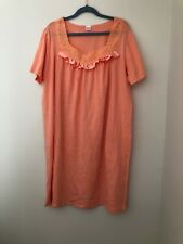 Women's 100% Cotton Nightgown Melon Size 2X New