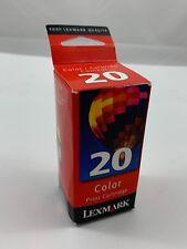 New Genuine LEXMARK 20 Tricolor Printer Ink Cartridge 15M0120