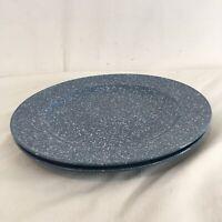 "Mikasa Ultrastone Country Blue CU501 Set of 2 11 1/4"" Dinner Plates"