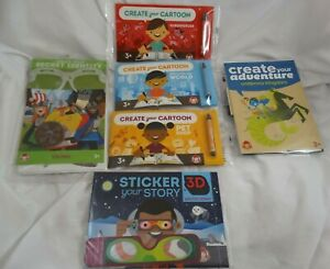 Wendy's Create Your Secret Identity Cartoon 3D Story Books Kid Meal Toys Lot
