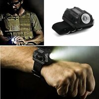 Wrist LED Flashlight Watch Rechargeable Tactical Light  Survival Camping Black