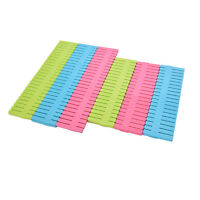 4pcs DIY Grid Drawer Divider Household Necessities Storage Organizer Plastic NTP