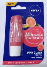 Nivea Lip Balm With Natural Oil 24 Hour Moisturization Pink Guava Shine - 4.8 gm