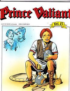 "Prince Valiant Vol 15-1991-Strip Reprints Soft Cover-""Yng Geoffrey -1st Print! """