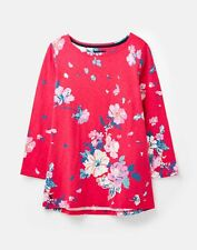 Joules 209073 3/4 Length Sleeve Jersey Striped Top - DEVITO PINK FLORAL