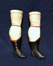 New ListingWonderful Pair of Large Antique Composition Doll Legs w/ Molded Boots