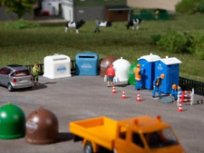 More details for auhagen 42593 ho gauge portable toilets and recycling containers plastic kit