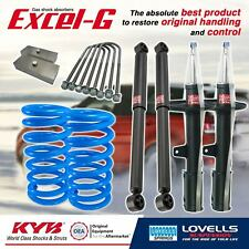 KYB Super Low F + R Shock Coil Spring + Block for HOLDEN COMMODORE 1 TONNER VY