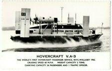 More details for postcard british united airways v.a-3 hovercraft rhyl - wallasey vintage c.1960