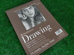 "Strathmore Medium Drawing Spiral Paper Pad 8""X10"" - 400300  80lb  24 Sheets"