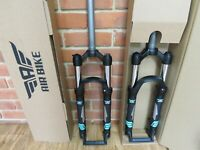 Air Bike XC32 MTB Suspension Fork 27.5 Lockout 100mm Travel 1 1/8  Steerer Black