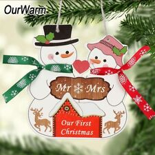 our first christmas as mr and mrs wooden ornament new year gift xmas tree decor
