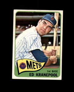 Ed Kranepool Hand Signed 1965 Topps New York Mets Autograph