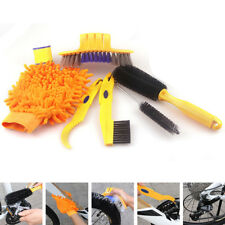 6Pc/Kit Bicycle Cleaning Tool Chain Cleaner Tire Brushes Bike Gloves Practical