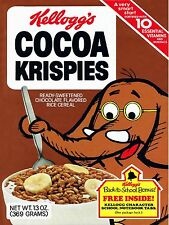1979 Kelloggs Cocoa Krispies Cereal High Quality Metal Magnet 3 x 4 inches 9606