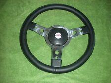 "Steering Wheel (14"" Leather) & Boss, Triumph Herald, Spitfire, GT6, TR4-6"