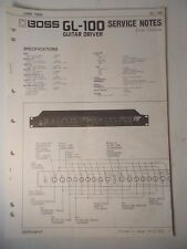 Original ROLAND Service Notes-  BOSS GL-100  Guitar Driver