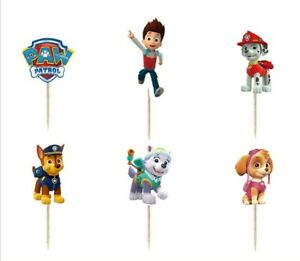 24x Paw Patrol  Cupcake Geburtstag Muffin Kuchen Chase Toppers Party Feier