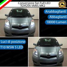 CONVERSIONE LED TOYOTA YARIS MK2 KIT LED H4 + LED POSIZIONE T10 6000K BIANCO
