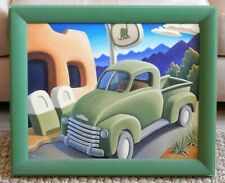 Michael Baum DINO COUNTRY Giclee on Canvas Sinclair Gas Station Out West 20x24