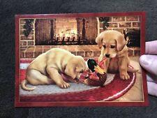 Christmas Cards Dog Yellow Lab Puppy Duck Retriever Jim Lamb Tree-Free Greetings