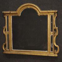 Specchiera caminiera in legno scolpito dorato cornice italiana stile antico 900