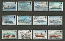 BRITISH ANTARCTIC -SG218-229-ANTARCTIC SHIPS-MNH