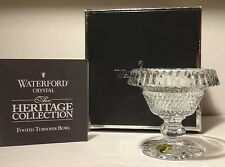 NEW WATERFORD HERITAGE COLLECTION MINI FOOTED TURNOVER ROLLOVER BOWL ~ IRELAND