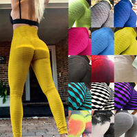 Womens Anti-Cellulite Yoga Leggings High Waist Pants Fitness Gym Sports Trousers