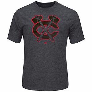 NHL T-Shirt Chicago Blackhawks Empty Net Synthetic Shirt Majestic Ice Hockey