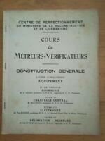 Cours métreurs vérificateurs - Plomberie Chauffage électricité décoration T5