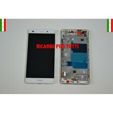 Touch Screen Display Lcd Bianco Con Frame Per P8 Lite ALE-L01 L02 L21 L23 UL00