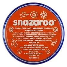 Genuine Snazaroo 18 ml Naranja Maquillaje Teatro Vestido de fantasía