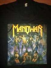 VTG 80S MANOWAR FIGHTING THE WORLD TOUR CONCERT ROCK SCREEN STARS SHIRT