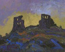 Welsh Castle ORIGINAL LANDSCAPE PAINTING Dryslwyn Steve Greaves Art Wales Kyffin