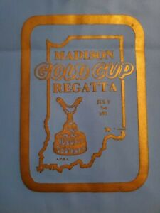 VINTAGE 1971 MADISON INDIANA GOLD CUP REGATTA HYDROPLANE WATERPROOF INFLATE BAG
