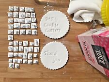 Apple Chancery Cookie Stamp - Fondant Embosser Alphabet Stamp UK - 53 pieces