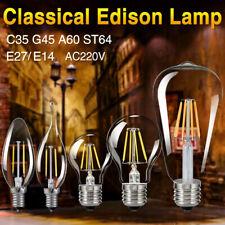E27 E14 Retro Edison Filamento 220V LED lampadina Annata Fiamma Luce lampade 3E