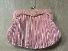 Tie Rack Women's Pinch Purse Pink Prom Party Glitzy Sequin Small Clutch BNWOT