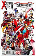 UNCANNY X-MEN #1 NM *DEADPOOL STATE BIRD VARIANT* IMMONEN CVR 1ST PRINTING 2013