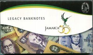 JAMAICA SET 6 UNC 50 CENTS 1 2 510 20 1987 - 1999 P 53 - 72 50th COMM. FOLDER